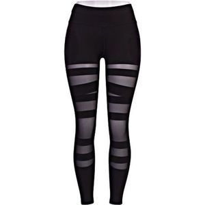 Black mesh Pop fit leggings
